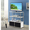 This item: Designs2Go White Highboy TV Stand with Black Doors