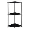 This item: Designs2Go Classic Black Three-Tier Corner Shelf