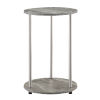 This item: Design2Go Faux Gray Marble and Chrome Two-Tier Round End Table