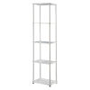 This item: Design2Go Faux White Marble and Chrome Five-Tier Tower