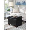 This item: Designs4Comfort Black Madison Storage Ottoman