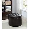 This item: Designs4Comfort Black Round Shoe Ottoman