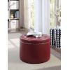 This item: Designs 4 Comfort Burgundy 22-Inch Round Shoe Ottoman