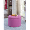 This item: Designs 4 Comfort Pink Faux Suede 22-Inch Round Shoe Ottoman