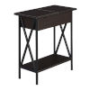 This item: Tucson Espresso Flip Top End Table with Charging Station