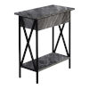 This item: Tucson Gray and Black Flip Top End Table with Charging Station