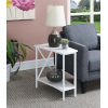 This item: Tucson White 16-Inch Wedge End Table