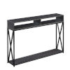 This item: Tucson Charcoal Gray and Black Console Table