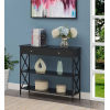 This item: Tucson Black Single Drawer Console Table