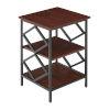 This item: Diamond Cherry Black Metal End Table