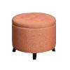 This item: Designs 4 Comfort Coral Round Ottoman