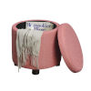 This item: Designs 4 Comfort Coral Round Storage Ottoman