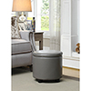 This item: Designs4Comfort Gray Round Accent Storage Ottoman