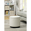 This item: Designs4Comfort White Round Accent Storage Ottoman