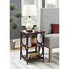 This item: Omega Cherry and Black Metal Frame End Table