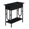 This item: Omega Black Flip Top End Table with Charging Station