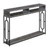 This item: Omega Weathered Deluxe Gray and Black Console Table