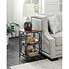 This item: Town Square Cherry and Black Metal Frame End Table