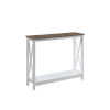 This item: Oxford Driftwood White Console Table