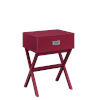 This item: Designs 2 Go Cranberry Red MDF End Table