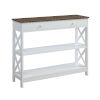 This item: Oxford Driftwood White One-Drawer Console Table