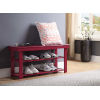 This item: Oxford Cranberry Red 35-Inch Bench