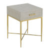 This item: Ashley Beige and Gold 24-Inch  End Table