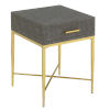 This item: Ashley Gray and Gold 24-Inch End Table