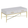 This item: Ashley White Scallop and Gold 18-Inch Coffee Table