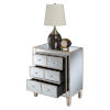 This item: Gold Coast Mirror Weathered White BettyB Mirrored End Table