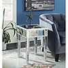 This item: Gold Coast Mirrored End Table with Drawer