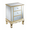 This item: Gold Coast Champagne Mirror Vineyard Three-Drawer Mirrored End Table