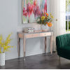 This item: Gold Coast Silver and Rose 15-Inch Mirrored Desk