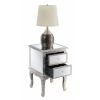 This item: Gold Coast Mirror Silver Victoria Mirrored End Table