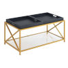 This item: St. Andrews Black Gold Powder Coated Metal Coffee Table
