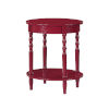 This item: Classic Accents Cranberry Red Brandi Oval End Table