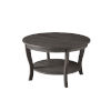 This item: American Heritage Dark Gray Wirebrush MDF Round Coffee Table