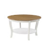 This item: American Heritage Driftwood and White Round Coffee Table