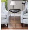 This item: Lunar Black and Gold Triangle End Table