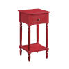This item: French Country Cranberry Red 28-Inch Khloe Accent Table