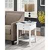This item: American Heritage Logan White End Table with Drawer and Slide