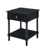 This item: Michelle Black MDF End Table