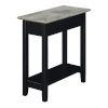 This item: American Heritage Faux Birch and Black Flip Top End Table