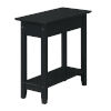 This item: American Heritage Black Flip Top End Table with Charging Station