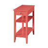 This item: American Heritage Coral End Table With Drawer