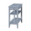 This item: American Heritage Gray End Table With Drawer