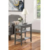 This item: American Heritage Dark Gray Wirebrush 11-Inch Three Tier End Table With Drawer