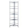 This item: Xtra Storage Cobalt Blue 14-Inch Five-Tier Folding Metal Shelf