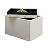 This item: Designs4Comfort Ivory Accent Storage Ottoman with Tray Top