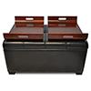This item: Designs4Comfort Espresso Storage Ottoman with Trays